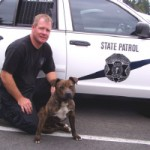Pit bull and police